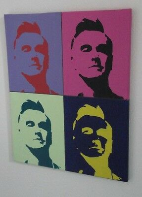 MORRISSEY, THE SMITHS, .HAND PAINTED canvas 20 X 16  INS..READY TO HANG B