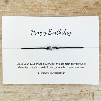 HAPPY BIRTHDAY, Wish Bracelet, B'day Wishes, Party Favour, Add a Name Option