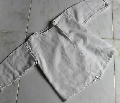 Antique Baby Jacket White Cotton Vintage Baby's Jacket or Doll's Coat