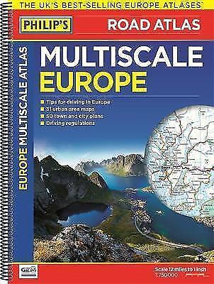 Philip's Multiscale Europe: Spiral A3 (Road Atlas Europe),New Condition