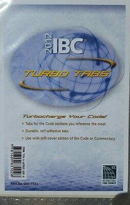 2012 International Building Code Turbo Tabs for soft-cover edition of the code