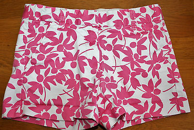CREWCUTS by J CREW Shorts Girls Size 10 Pink White Floral Adjustable Waist