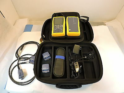 Fluke DTX-1800 Cable Analyzer x2 DTX-PLA002, x2 DTX-CHA001A- 90 Day Warranty