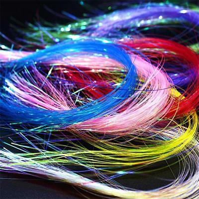 8 colors/set Pearl Uv Hue Ice Wing Fiber/Width 0.4mm Crystal Flashabou Tinsel