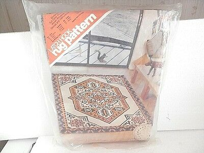 Spinnerin Large Printed Latch Hook Rug Pattern 58 X 84 #y425 Tribal Tale New