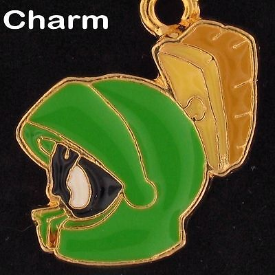 CHARM Marvin The Martian WARNER BROS LOONEY TUNES Gold Enamel WB STORE 4016