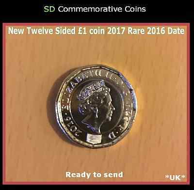 New Twelve Sided One Pound Coin £1 BU Uncirculated 2016 date Not 2017 Date