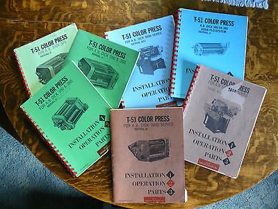 A B Dick  T-51 Townsend Industries  Parts & Service Manuals - PRICE REDUCTION!!!
