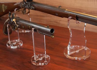 Elegant premium acrylic plastic display stand for guns rifles pistols swords