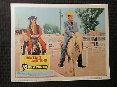 1966 3 ON A COUCH Original 14x11 Lobby Card VG+ 4.5 Jerry Lewis - Janet Leigh