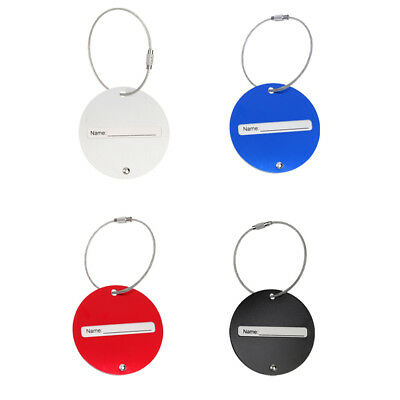 4pcs Travel Metal Tag Suitcase Luggage Baggage Identity Address Name Labels