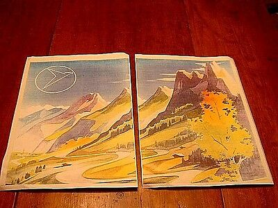 2 Part 1950's Reprint Messerschmitt KR200 Country Advertising Poster