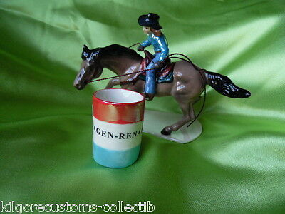 Hagen Renaker Horse Barrel Racer + Barrel Ceramic Figurine 03355 New FREE SHIP!!