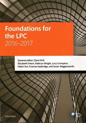 Foundations for the LPC 2016-2017 by Clare Firth 9780198765943 (Paperback, 2016)