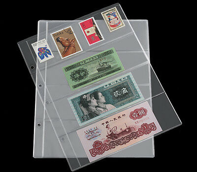 10 x Album Pages Holders Binder Sheets Stamp Money Bill Note Currency Collection