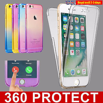 Silicone Shockproof 360° Protective Clear Case Cover For Apple iPhone 7 6s plus