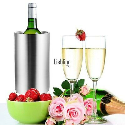 Bottle Cooler Stainless Steel Double Walled Ice Bucket for Wine Champagne LEBB