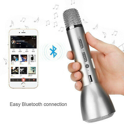 Mini Wireless Bluetooth Microphone Karaoke Player Stereo Speaker For PC Phone