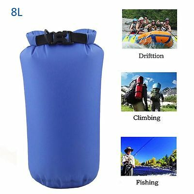 8L Outdoor Waterproof Canoe Backpack Swimming Hiking Camping Dry Bag Sack Pouch