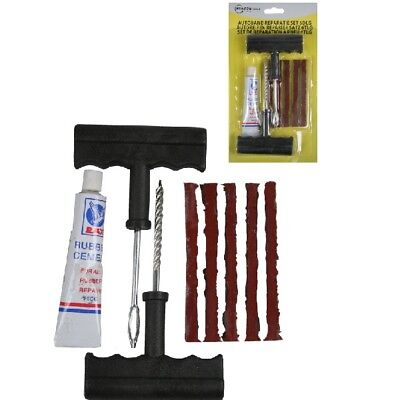 Car Flat Tyre Tire Puncture Repair Set 6 Pieces Emergency - Benson BT007944