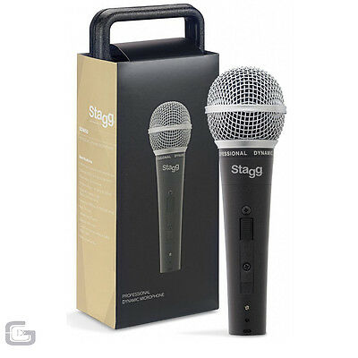 Stagg SDM50 Professional Handheld Wired Cardioid Dynamic Vocal Mic Microphone