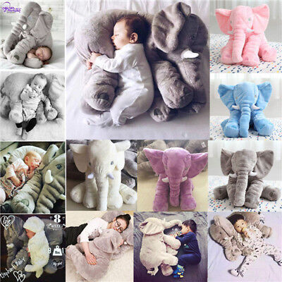 Long Nose Elephant Pillow Soft Plush Doll Stuff Toys Lumbar Pillow For Baby Kids