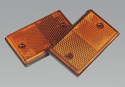 Tb25 Sealey Reflex Reflector Amber Oblong Pack Of 2  Brand New Sealey Tool!