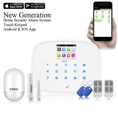 iOS Android APP Wireless GSM RFID SMS Home House Alarm System Security KERUI G19