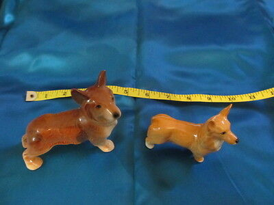 Pair of 60s/70s China Pembroke Corgi Dogs (Like the Queen's)1 Beswick,1 unmarked