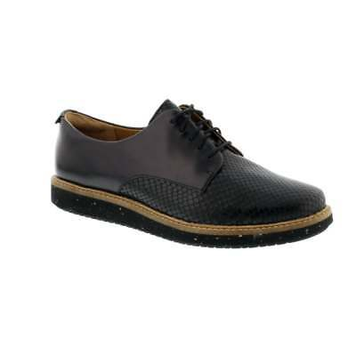 Clarks Glick Darby - Black Leather Womens Shoes