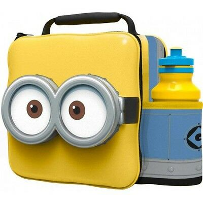 Despicable Me 'Minion' 3D Lunch Box Bag With Bottle New Gift