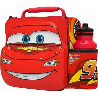 Disney Cars 'Piston Cup 99' 3D Lunch Box Bag With Bottle New Gift