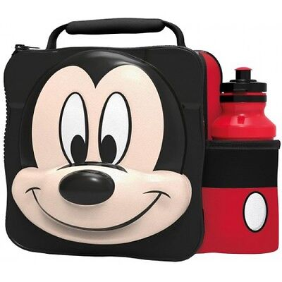 Disney Mickey Mouse 3D Lunch Box Bag With Bottle Brand New Gift