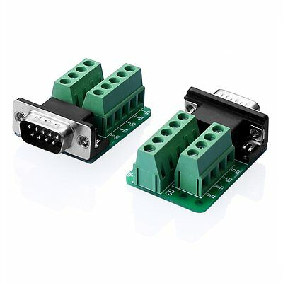 1PCS DB9 Male Adapter Signals Terminal Module RS232 Serial to Terminal DB9 S