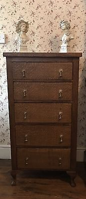Antique Solid Oak  TALLBOY CHEST OF DRAWERS