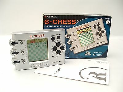RADIO SHACK #60-2845 Electronic E-Chess Game ©2001 Working/Boxed/Instructions