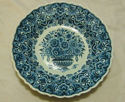 "Vintage Delft OUD Flower Basket 14 1/2"" Charger / Wall Plate"