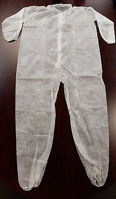 Case Of 25 Disposable Coveralls. Size 4X. Zip Front. New In Box. Malt Industries