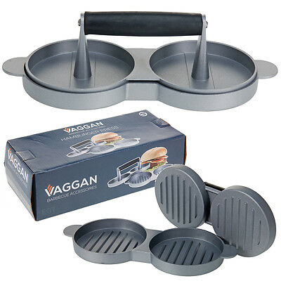 Vaggan Double Burger Press Quarter Pound Traditional Meat Fish Chicken Vegetable