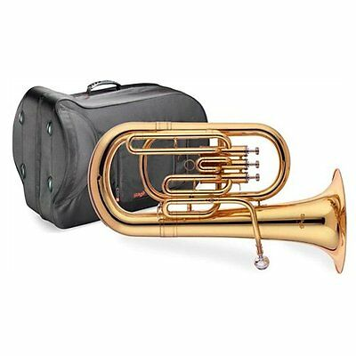 Stagg WS-EP235S Euphonium Musical Instrument Three Pistons Stainless Steel