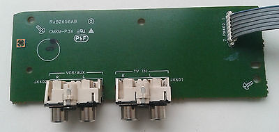 Audio stereo RCA connector with pcb
