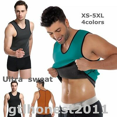 Men's Slimming Neoprene Vest Sauna Suit Sweat Suits Weight Loss Body Shaper Top