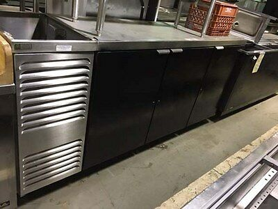 "Three Door Back Bar Cooler 88"" wide"