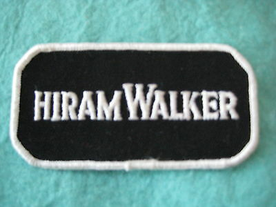"Vintage Hiram Walker Liquor Uniform  Patch sew On 4"" X 2 """