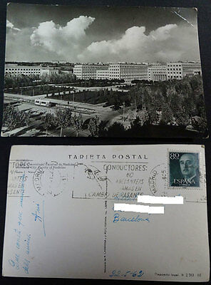 Antigua Postal Madrid 1962 Ciudad Universitaria Facultad De Medicina     Cc3507