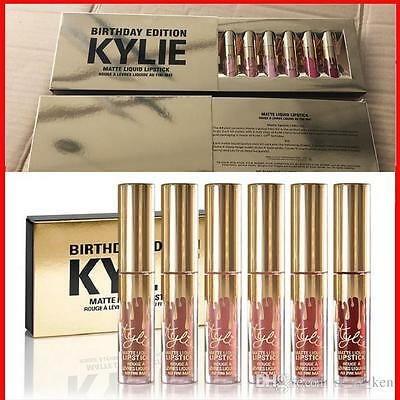 Kylie Jenner Birthday Edition Matte Lipstick High Quality 6pcs Set