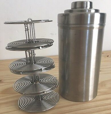 Nikor Stainless Steel Film Developing Tanks 4 35mm Reels With Lift Rod