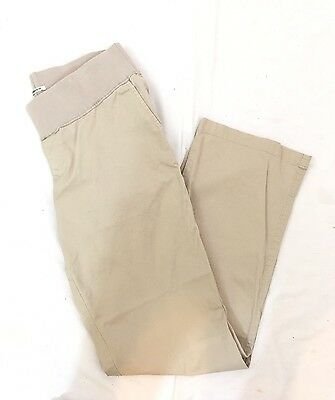 DUO MATERNITY Women's Beige Belly Band Stretch Pants Size M