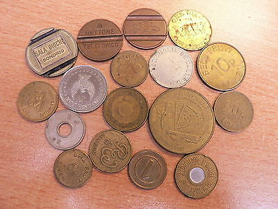 Selection of 17 Fruit Machine etc Tokens