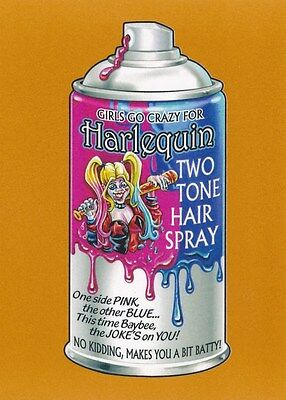 #4 HARLEQUIN HAIR SPRAY 2017 Wacky Packages 50th Anniversary HARLEY QUINN BRONZE